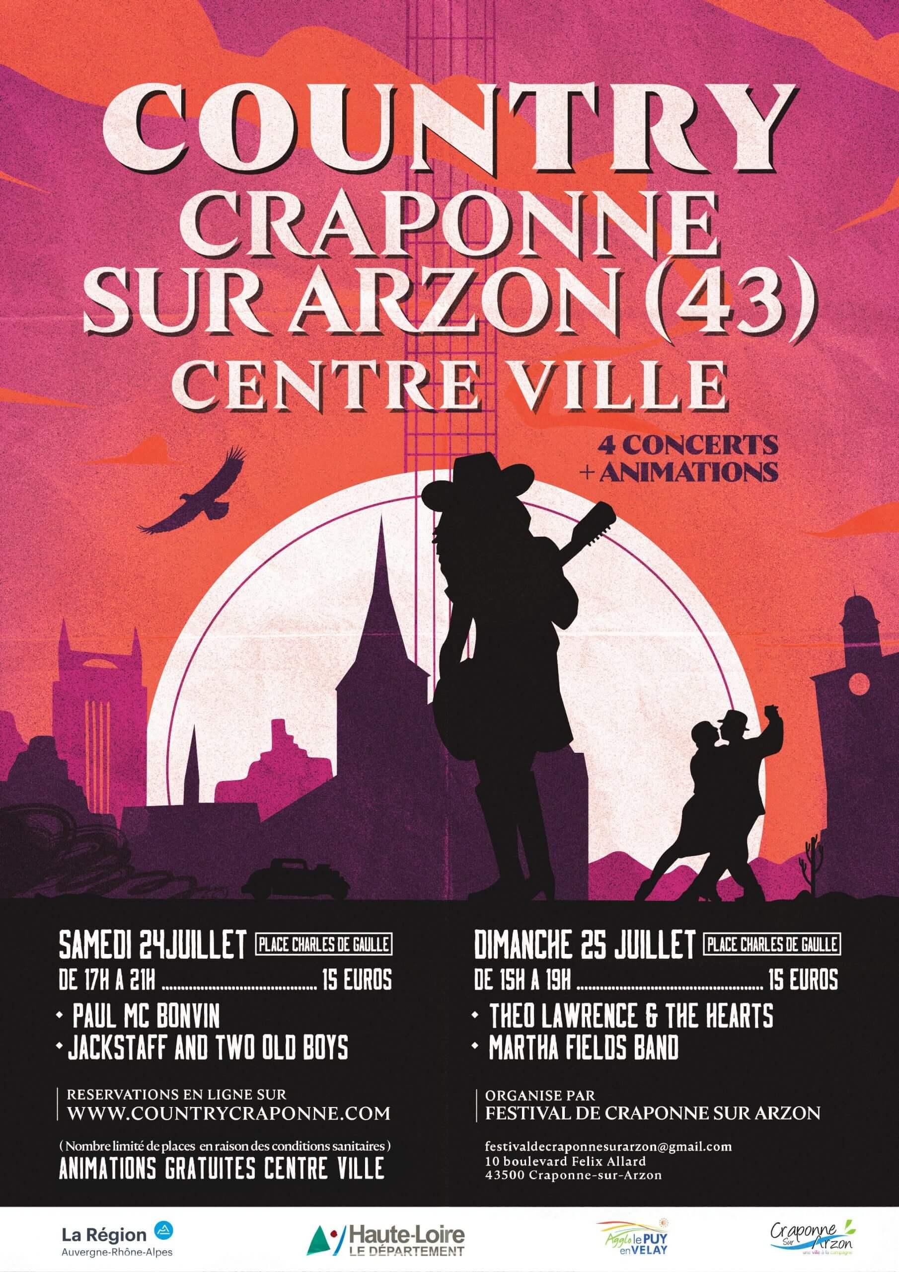 Affiche du festival Country de Craponne